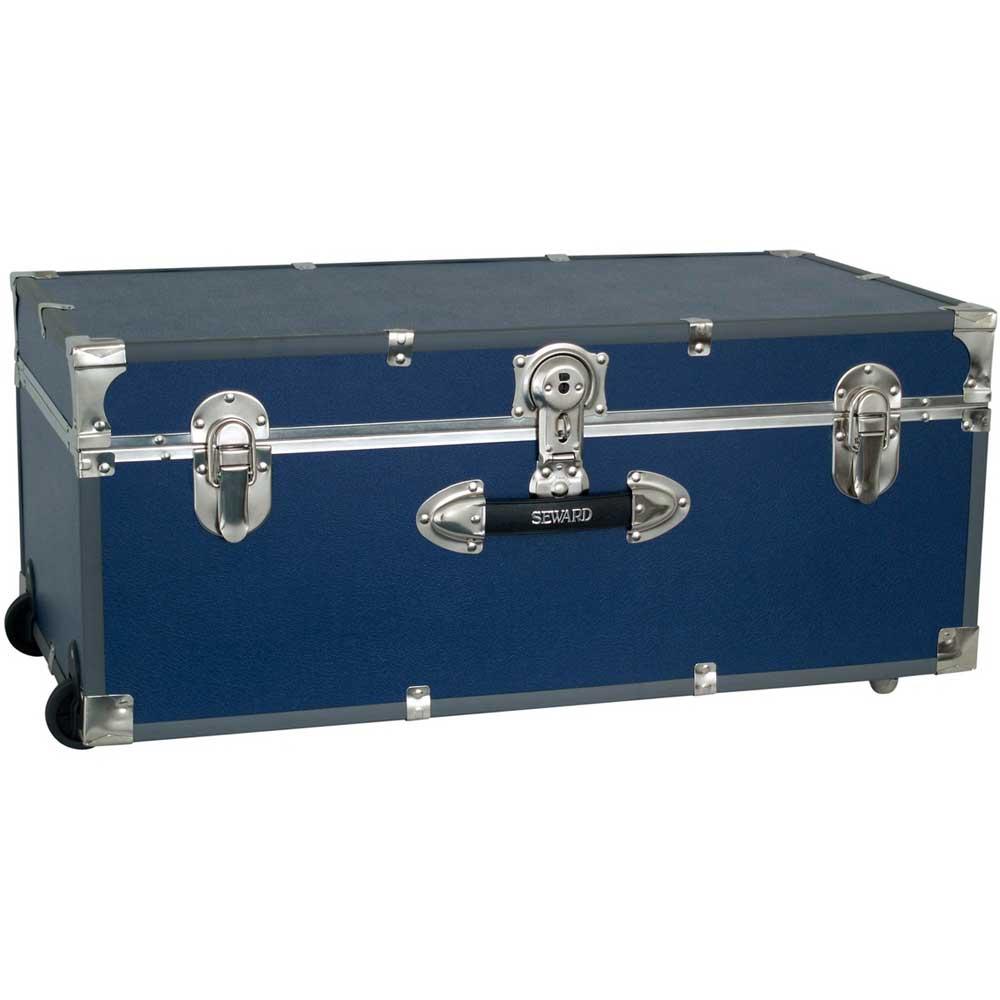 Collegiate Wheeled Storage Trunk   Blue Image