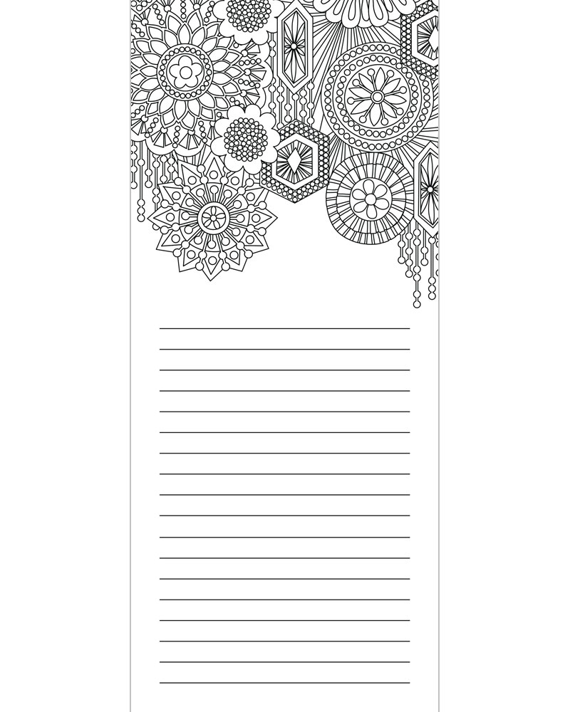 notepad coloring pages - photo#7