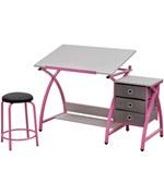 Angled Kids Desk with Stool