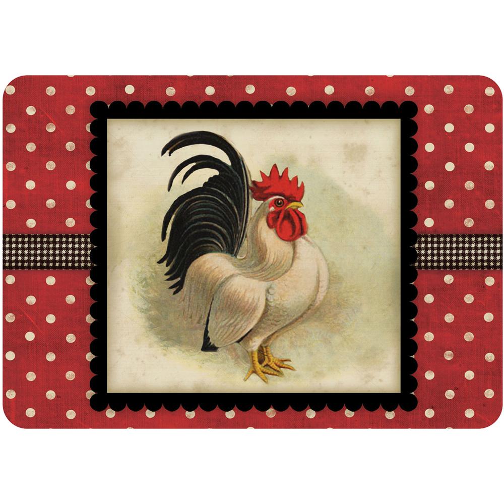Rooster Kitchen Floor Mats