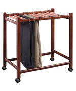 Compact Rolling Pant Trolley with Cedar Hangers