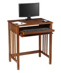 Compact Wood Computer Desk
