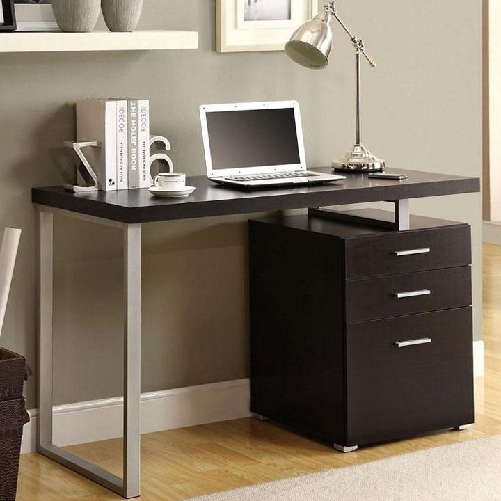 computer desk with file cabinet in desks and hutches. Black Bedroom Furniture Sets. Home Design Ideas