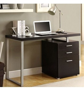 Computer Desk with File Cabinet Image