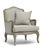 Constanza Classic Antiqued French Accent Chair by Wholesale Interiors