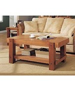 Contemporary Coffee Table - Sturdy Construction with Oak Finish