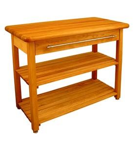 Contemporary Harvest Table with Shelf by Catskill Craftsmen Image