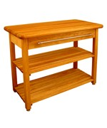 Contemporary Harvest Table with Shelf by Catskill Craftsmen