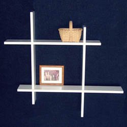 Contemporary Wall Shelf contemporary wall shelf unit - 2 level in wall mounted shelves