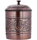Cookie Jar Antique Pewter In Kitchen Canisters