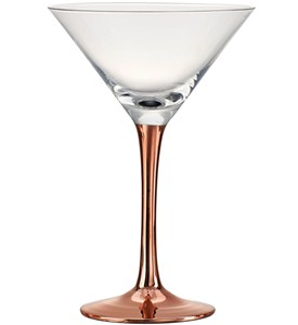 Copper Stem Martini Glass (Set of 4) Image