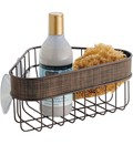 Corner Shower Suction Basket - Bronze