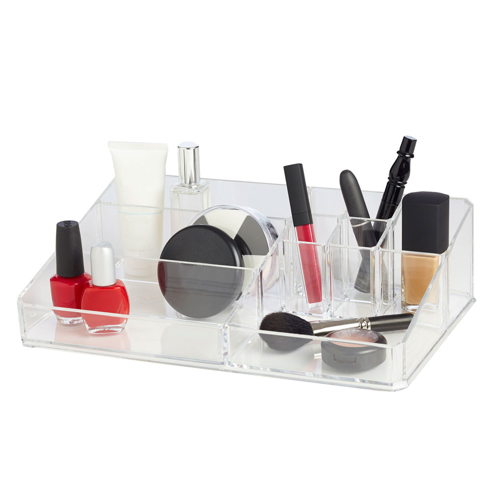 cosmetic organizer 9 compartment in cosmetic organizers. Black Bedroom Furniture Sets. Home Design Ideas