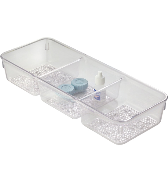 Cosmetic Organizer Tray Three Section In Cosmetic Drawer