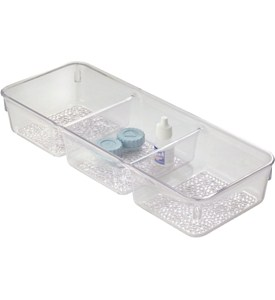 Cosmetic Organizer Tray - Three Section Image