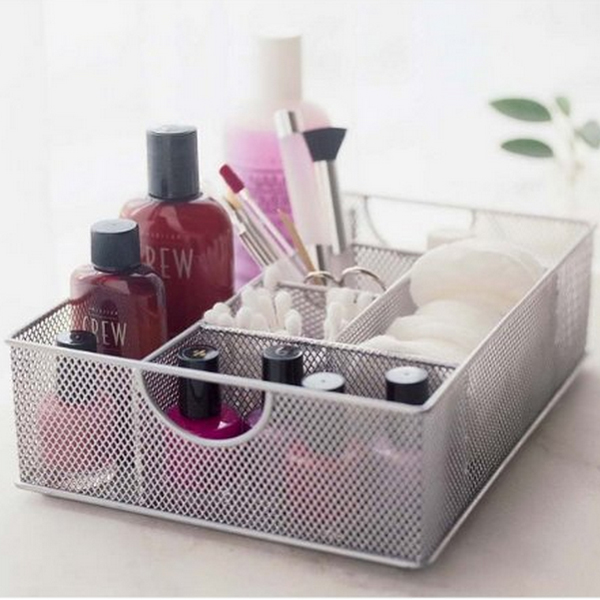 cosmetic organizer tray in cosmetic organizers