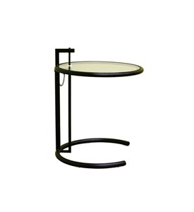 Costa Black Metal Coffee Table with Glass Top By Wholesale Interiors Inc Image