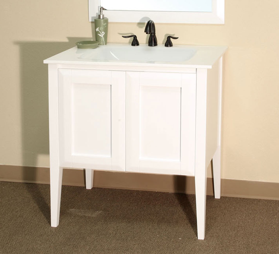 Cottage 33.5 Inch Single Sink Vanity by Bellaterra Home in ...