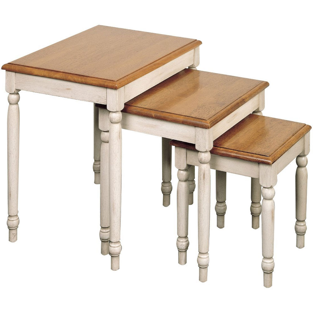 Country Cottage 3 Piece Nesting Tables in Nesting Table Sets