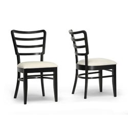 Coventa Dark Brown and Cream Modern Dining Chair- Set of 2 by Wholesale Interiors Image