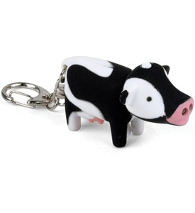 Cow Key Chain and LED Flashlight Image
