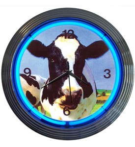 Cow Neon Clock by Neonetics Image