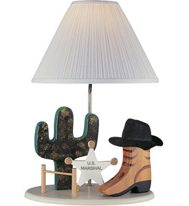 Cowboy Kids Table Lamp by Lite Source Image