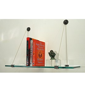 Floating Glass Shelf - 12 Inch Deep Image