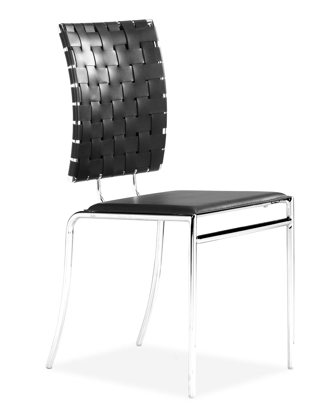 Set Of 4 Dining Chairs. Orbit 90cm Round Black Glass Dining Table ...