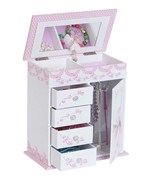 Girls Musical Ballerina Jewelry Box