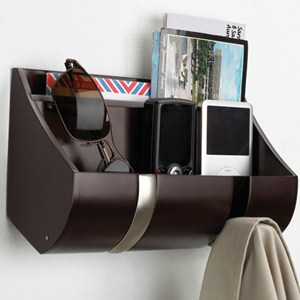 Wood Flip Hook Cubby Organizer - Espresso Image