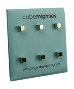 Cube Mighties Mini Magnets - Chrome