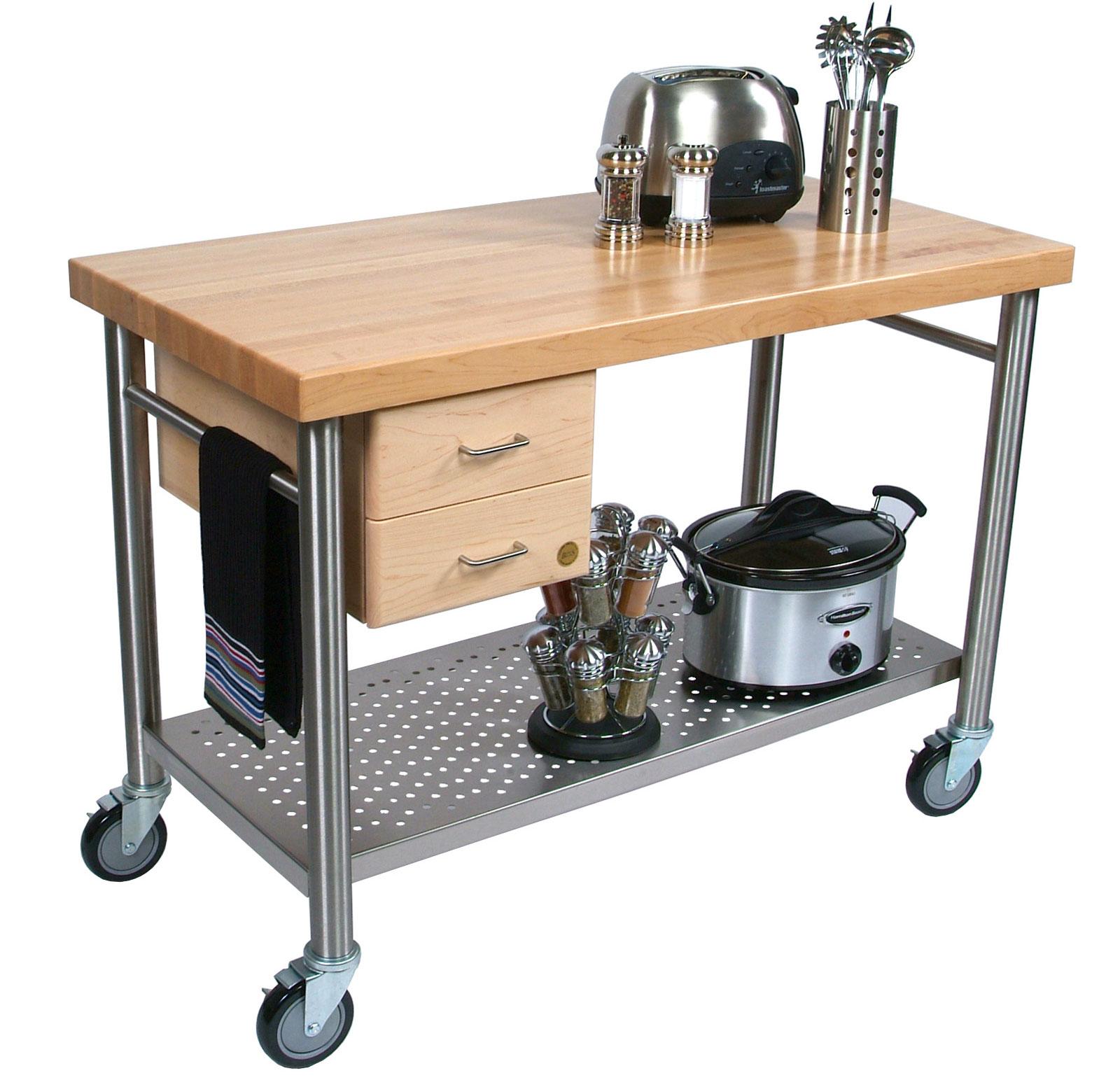 Butcher Block Kitchen Island · Cucina Magnifico Kitchen Island By John Boos    CUCIC04 ...  Kitchen Utility Cart