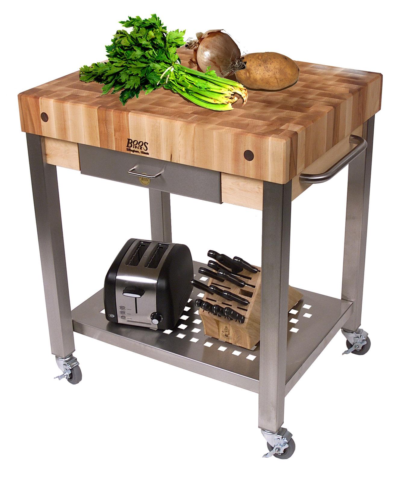 Cucina technica kitchen cart by john boos cuct24 in kitchen island carts - John boos cucina ...