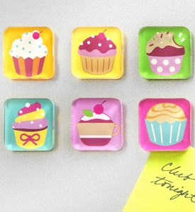 Cupcake Magnet Set (Set of 6) Image