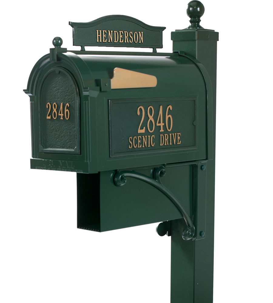 Curbside Ultimate Mailbox Green In Home Mailboxes
