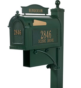 Curbside Ultimate Mailbox - Green Image