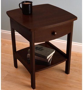 Curved Night Stand - Walnut Image