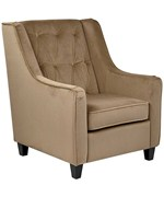 Curves Tufted Accent Chair