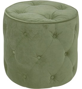 Curves Tufted Round Ottoman Image