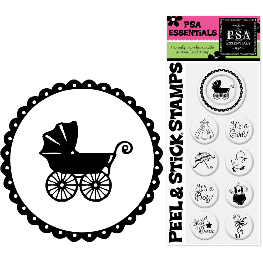 rubber stamp inserts baby shower set of 9 in custom rubber stamps