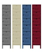 Custom Six Tier Steel Storage Lockers by Penco Products, Inc