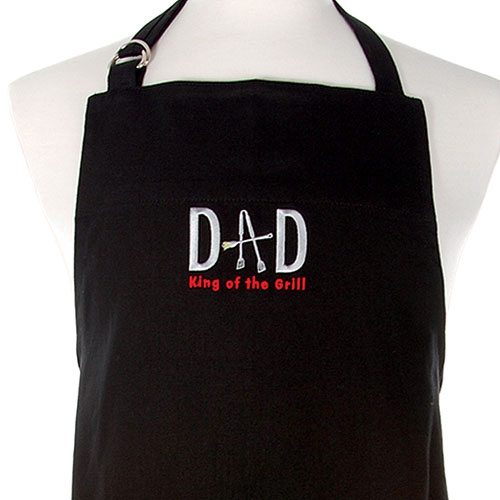 Dad King Of The Grill Bbq Apron Black In Bbq Accessories