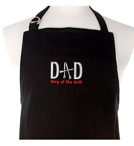 Dad King of the Grill BBQ Apron - Black Image