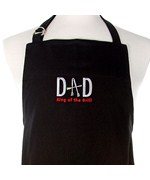 Dad King of the Grill BBQ Apron - Black
