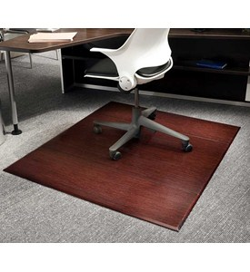 Dark Cherry Bamboo Office Chair Mats by Anji Mountain Image