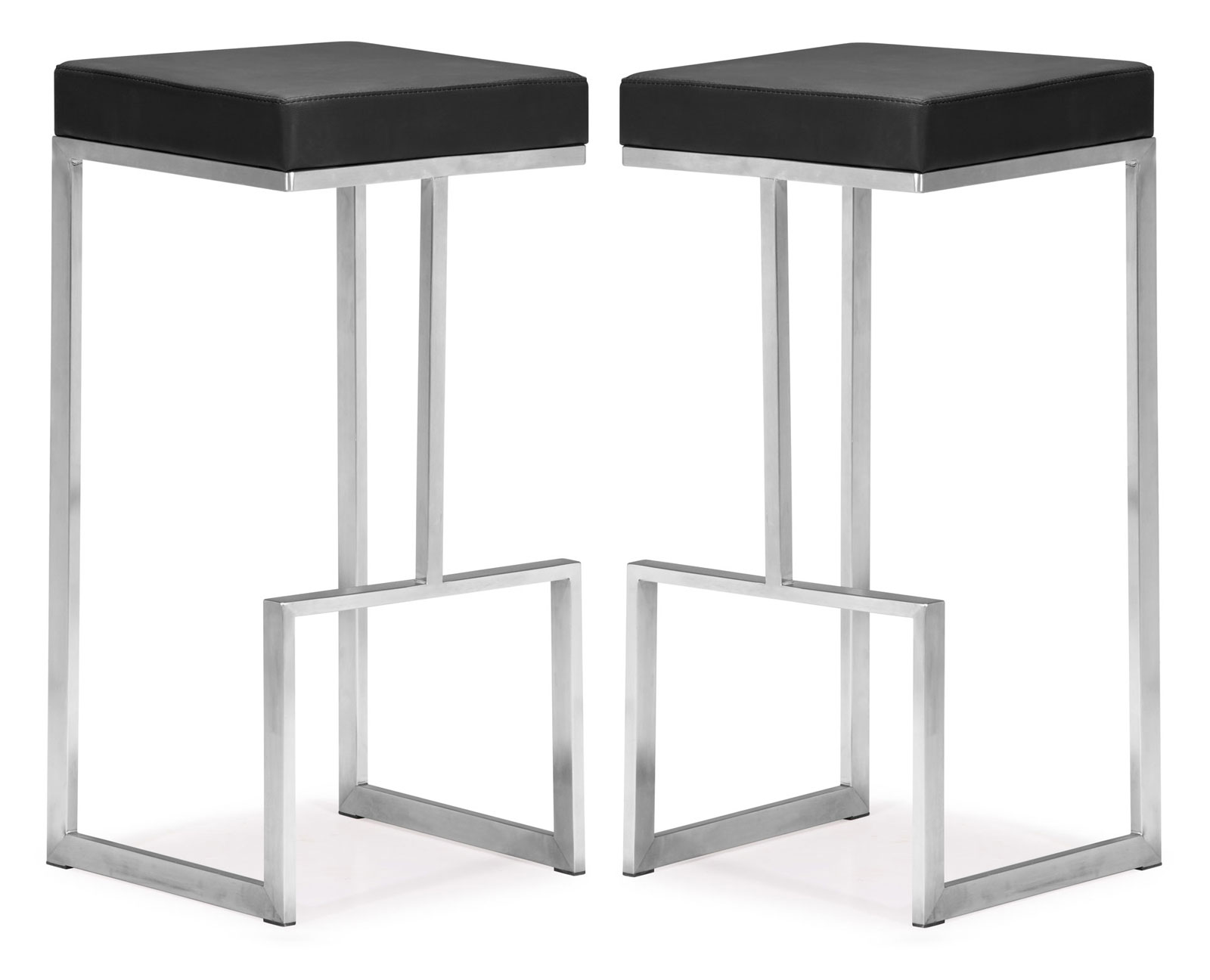 Darwen Bar Chair Set Of 2 By Zuo Modern In Modern Bar Stools