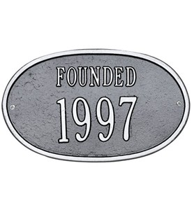 Custom Date Plaque - Founded Image