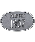 Custom Date Plaque - Founded