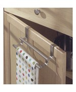 Double Over Cabinet Door Kitchen Towel Bar